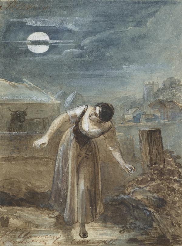 Illustration to Burns' Poem 'Halloween'