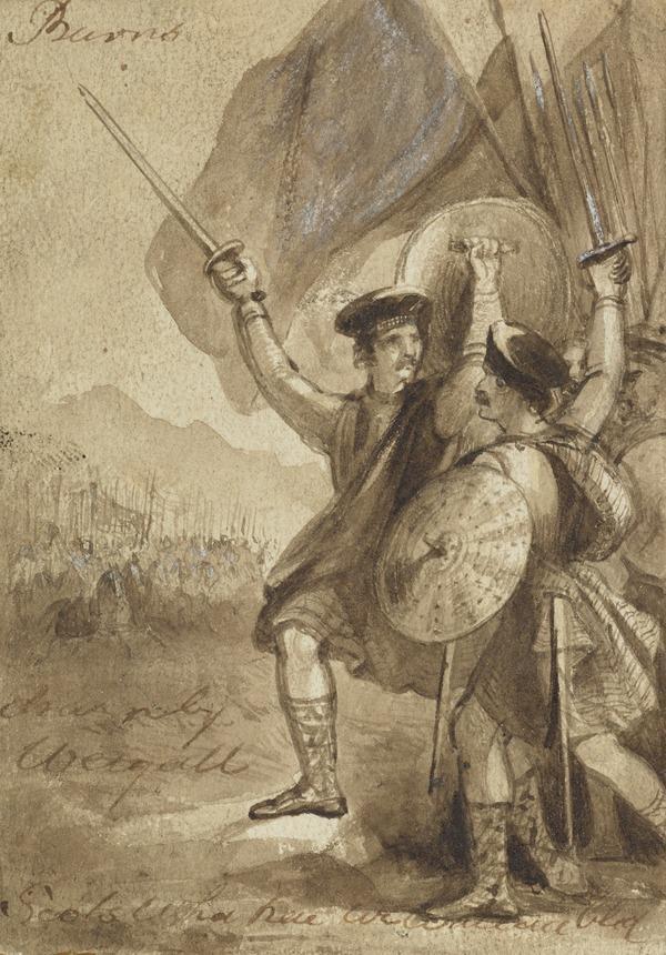 Illustration to Burns' Poem 'Scots Wha Hae'