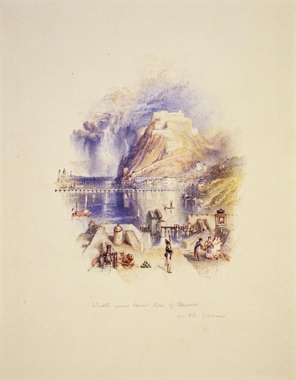 One of Twenty Vignettes -  Ode to the Germans: Ehrenbreitstein (About 1835)
