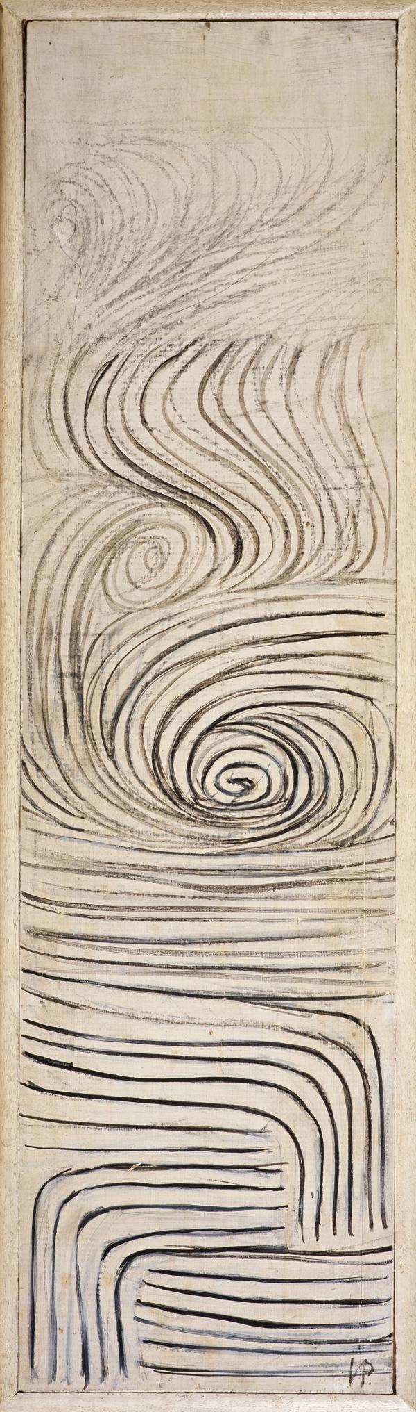 Spiral Motif (Subjective Landscape) in Black and White (1951)