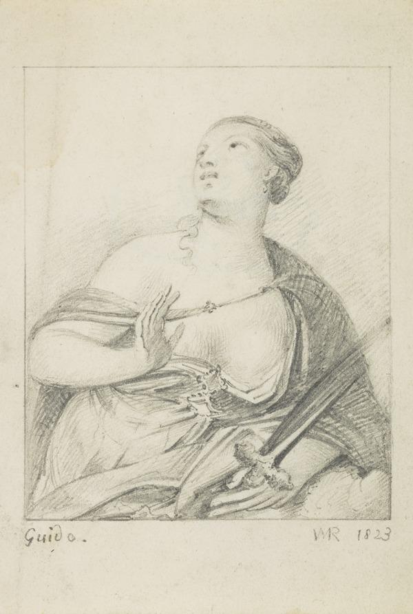 A Female Martyr (Dated 1823)