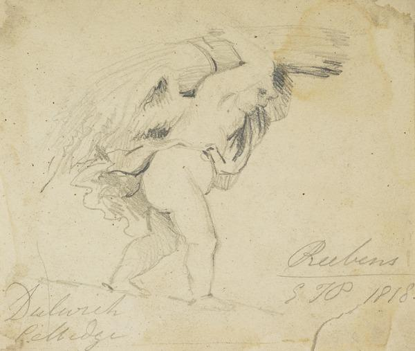 A Putto Carrying a Sheaf of Corn (Dated 1818)