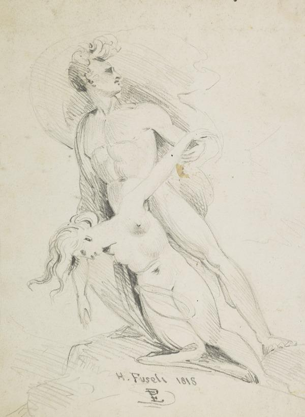 Two Figures (Dated 1818)