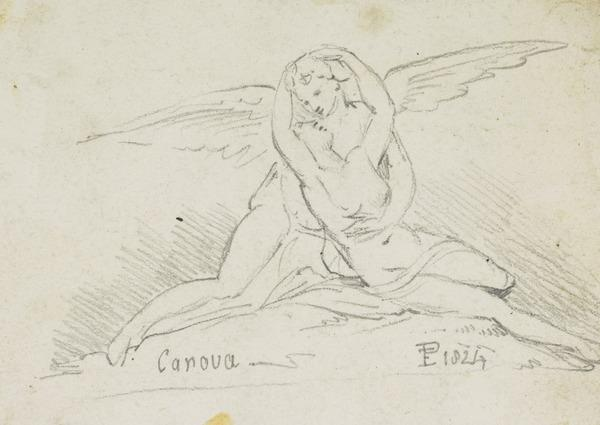 Cupid and Psyche (Dated 1824)