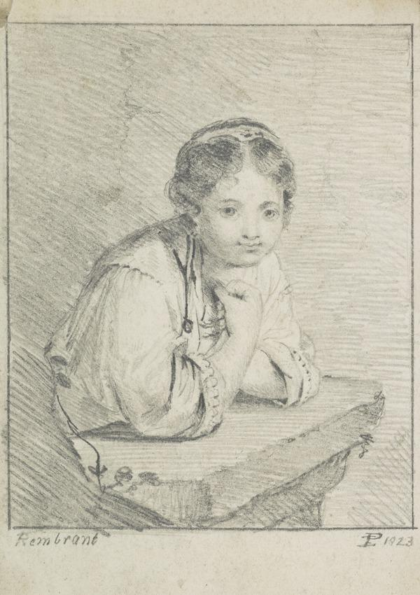Girl at a Window (Dated 1823)