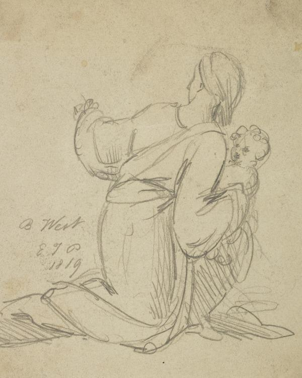 A Woman and Child (Dated 1819)