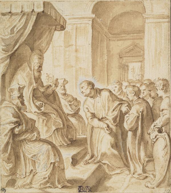 Saint Ignatius Pleading Before Pope Julius III for the Establishment of a German Jesuit College in Rome (About 1606 - 1608)
