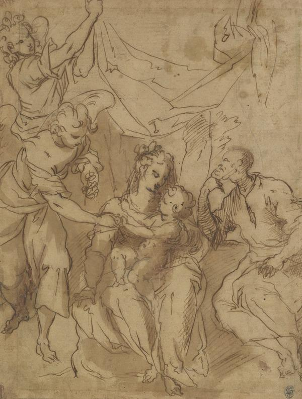 The Holy Family with Angels (About 1605)