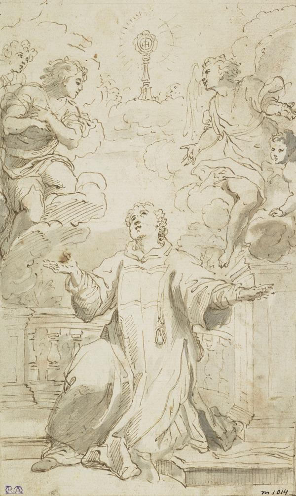 Saint Bernardino of Siena Adoring the Name of Jesus