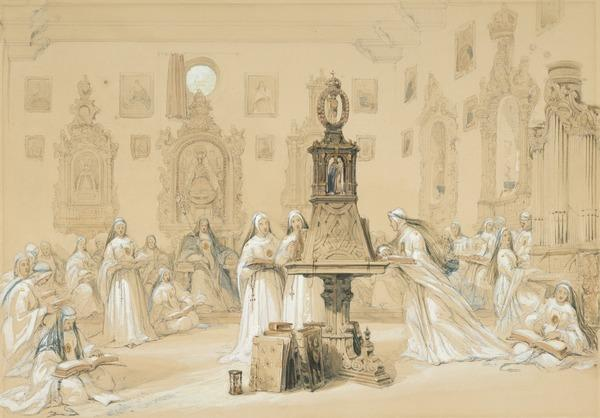 Nuns in the Calefactory at Carmona (1833)