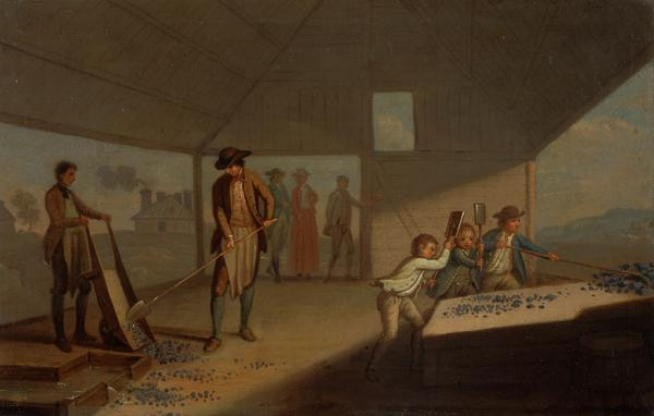Lead Processing at Leadhills: Pounding the Ore (Probably 1780s)