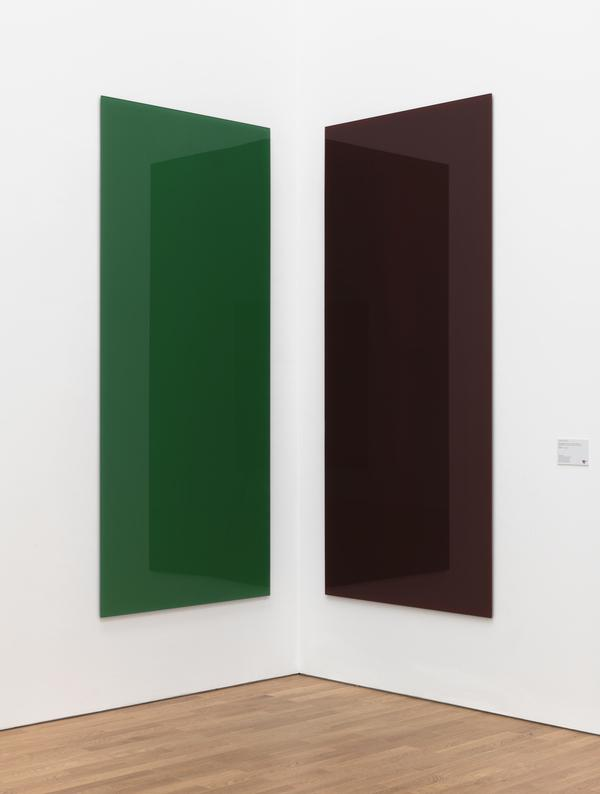 Eckspiegel, grun-rot (727-2 A, 737-2 B) [Corner Mirror Paintings (Green-Red, 737-2 A and B)] (1991)