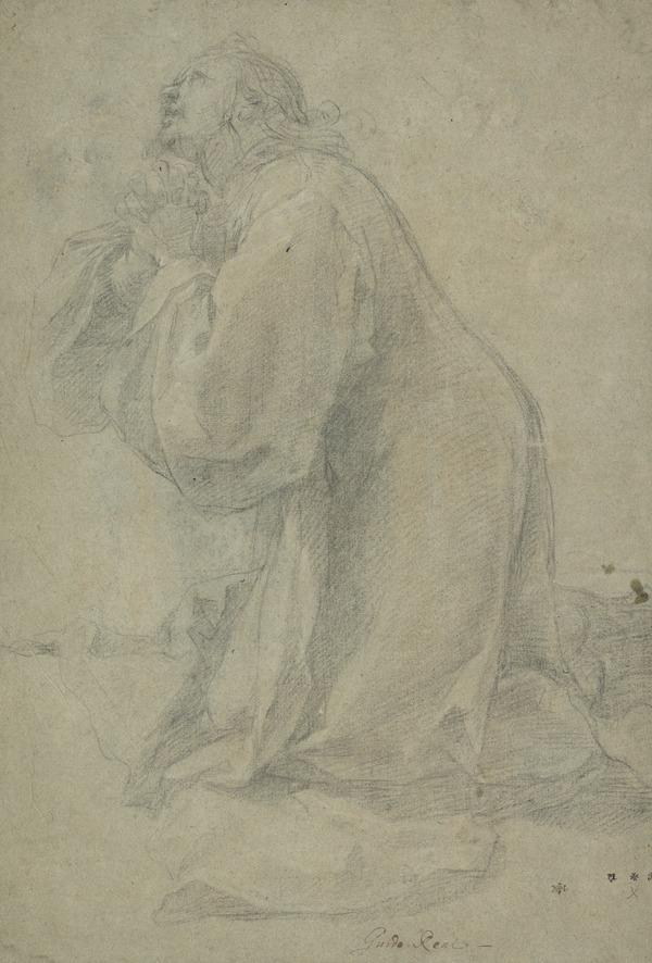 Study of a Kneeling, Praying Figure