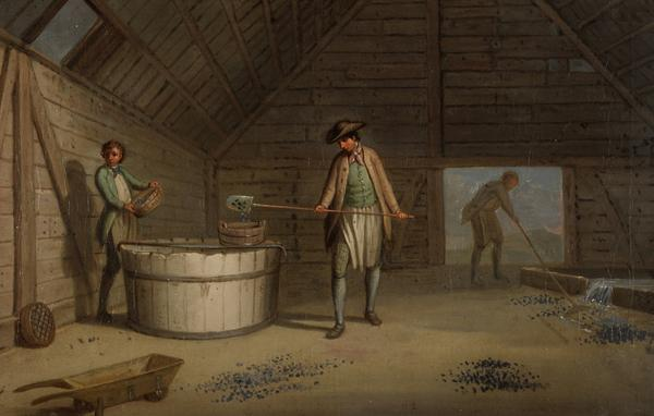 Lead Processing at Leadhills: Washing the Ore (Probably 1780s)
