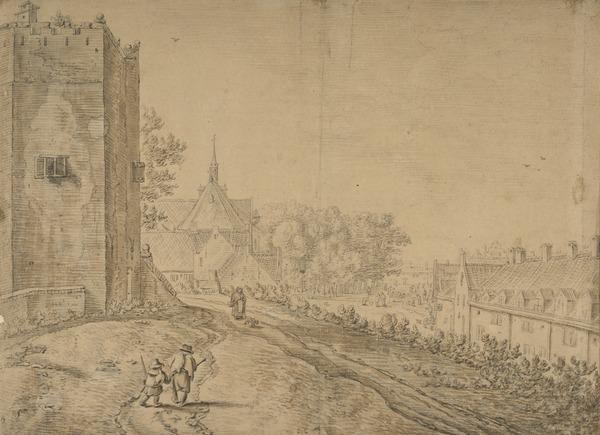 The Servatius Tower and St Agnieten Chapel in Utrecht (Estimated earliest year: 1624)
