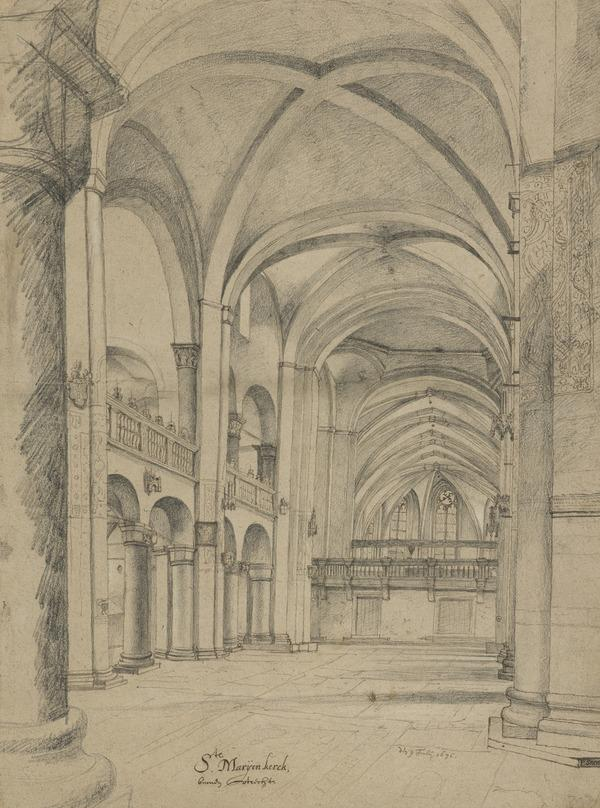 Interior of the Mariakerk in Utrecht (Dated 1636)