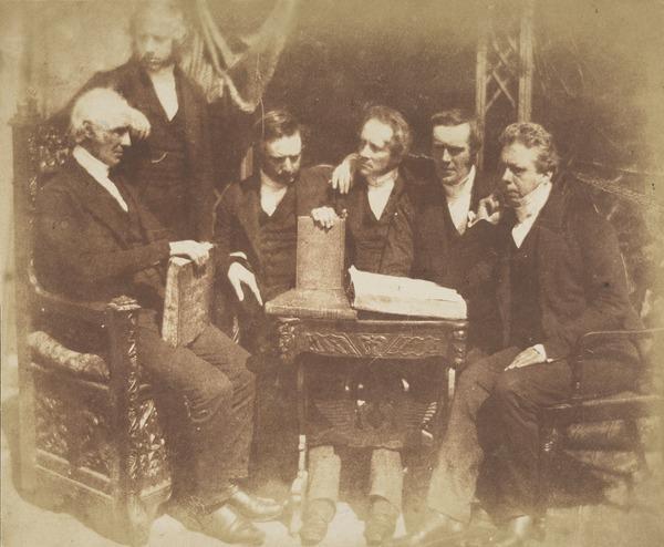 Professor Robert James Brown, two unknown men, Rev. Dr James Henderson, Rev. Dr John Forbes and Rev. Dr John Smyth [Group 52] (1843 - 1847)