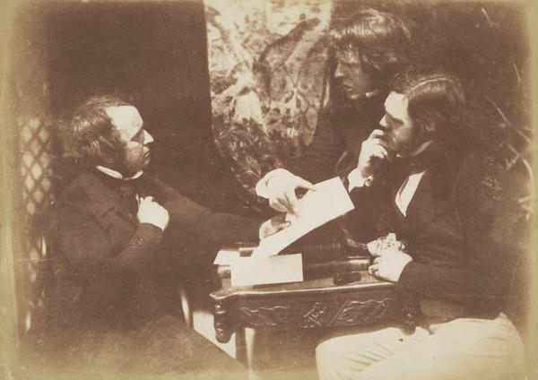 James Ballantine, 1808 - 1887, David Octavius Hill, and Dr George Bell in discussion [Group 28] (1843 - 1847)