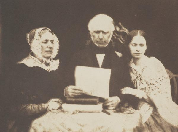 Mrs Balfour, d. 1844, Rev. Lewis Balfour of Colinton, d. 1860 and Miss Balfour [Group 26] (1843 - 1847)