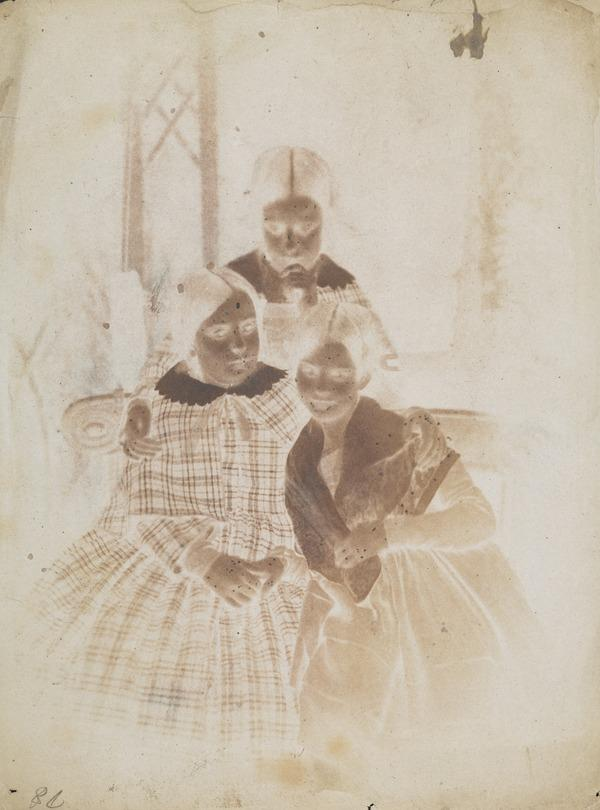 Daughters of the Marquis of Abercorn; the Ladies Harriet, Beatrix and Louisa Hamilton [Group 2] (16 November 1844)