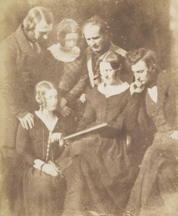 The Adamson family: Dr John Adamson, unknown women, perhaps Mrs Alexander Adamson, Alexander Adamson, Miss Melville Adamson and Robert Adamson ... (1843 - 1847)