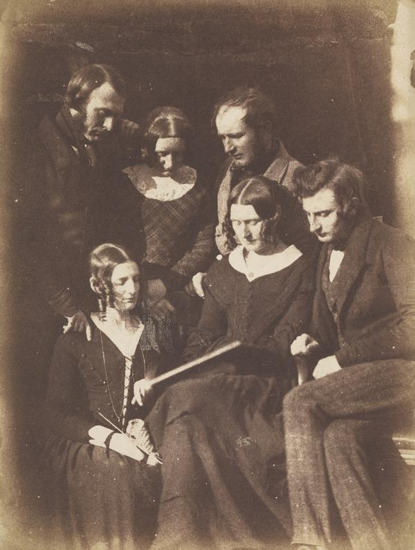 The Adamson family - Dr John Adamson, ?Mrs Alexander Adamson, Alexander Adamson, Miss Melville Adamson and Robert Adamson [Group 5] (1843 - 1847)