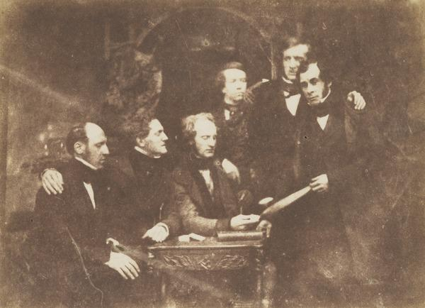 James Balfour, Captain Martin, Robert Maitland Heriot, Dr Foulis, unknown man and  - Douglas [Group 23] (1843 - 1847)