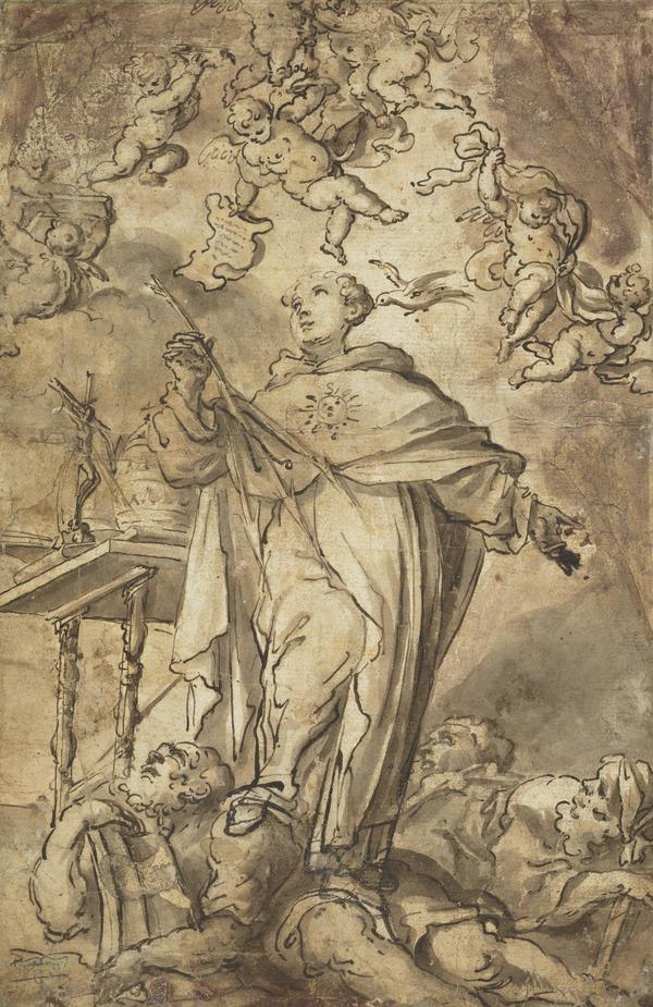 Saint Thomas Aquinas Overcoming Heresy