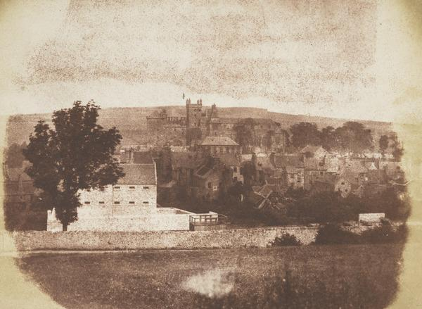 Linlithgow from above the railway line  [Landscape 11] (1843 - 1847)