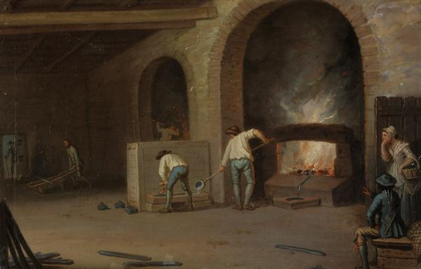Lead Processing at Leadhills: Smelting the Ore (Probably 1780s)