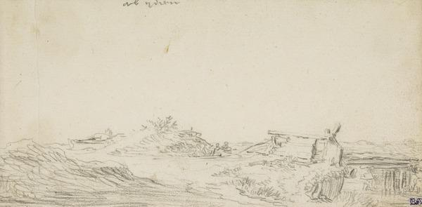 Dune-Landscape with Wooden Bridge over a River