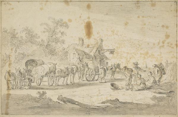 Horses and Carts Outside an Inn (Estimated earliest year: 1611)