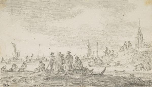 Fishermen at the Beach of Scheveningen (1653)