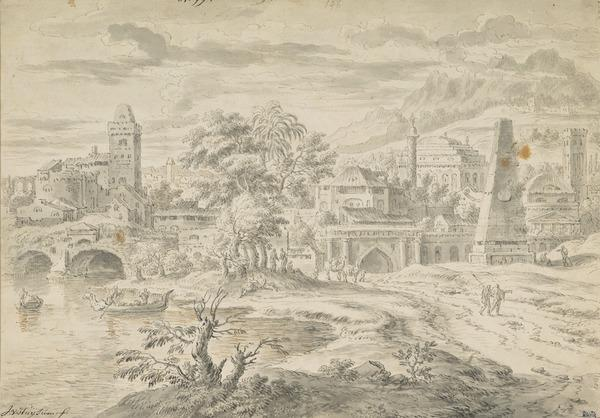 Fantasy Landscape with Classical and Other Buildings (Estimated earliest year: 1697)