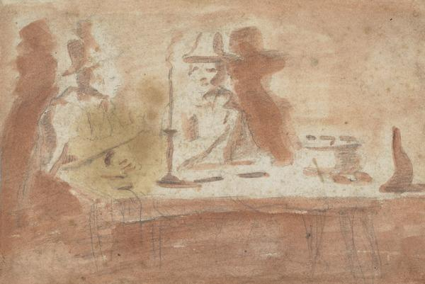 Two Men at a Candle-Lit Table (Estimated earliest year: 1621)