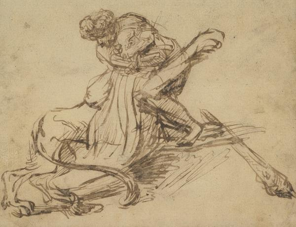 Samson Killing the Lion at Thamna