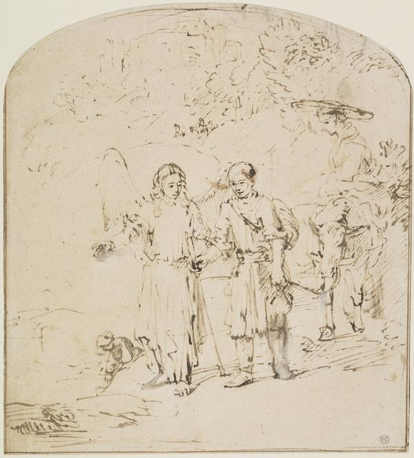 Tobias and Sarah Led by the Angel on their Return to Nineveh (About 1654 - 1655)