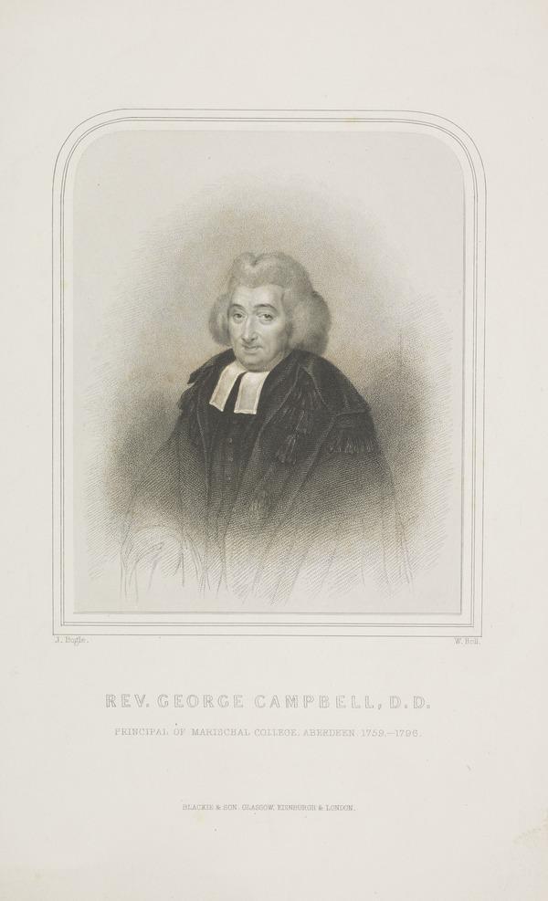 Reverend George Campbell, Principal of Marischal College, Aberdeen, 1759 - 1796
