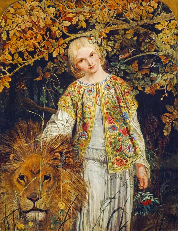 Una and the Lion (Exhibited 1860 (RSA))