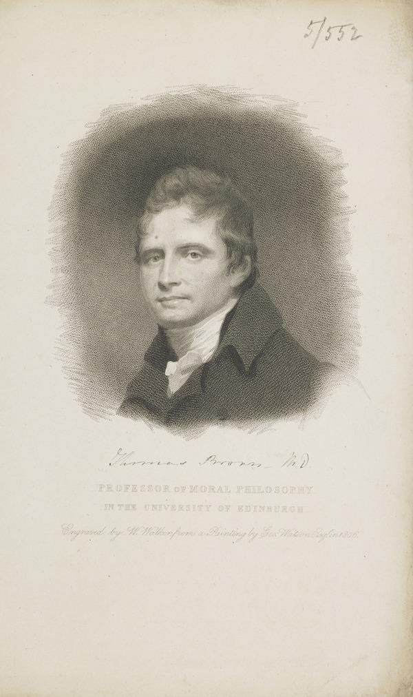 Dr Thomas Brown, 1778 - 1820. Professor of Moral Philosophy, Edinburgh University (1806)