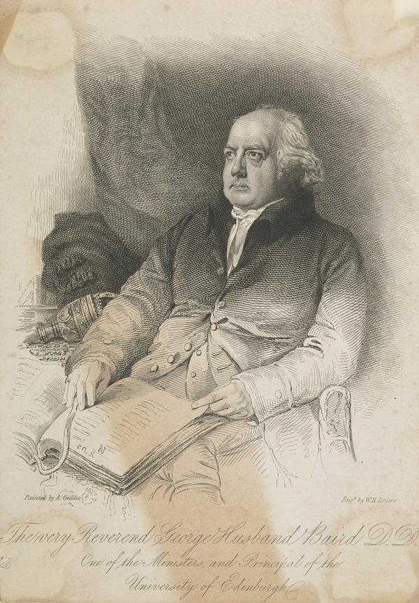 Rev. George Husband Baird, 1761 - 1840. Principal of Edinburgh University