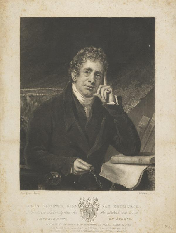 John Broster. Inventor of system for removal of impediment in speech (1825)
