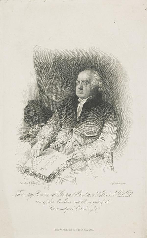 Rev. George Husband Baird, 1761 - 1840. Principal of Edinburgh University (1830)
