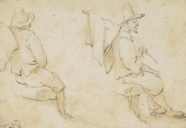 Two Studies of a Seated Man (1672)