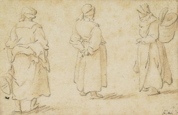 Three Standing Female Figures (1672)