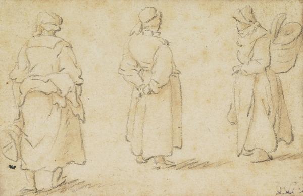 Three Standing Female Figures (1672)