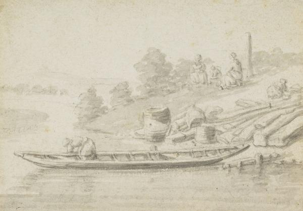 Landing Stage with Boat and Figures (Estimated earliest year: 1624)