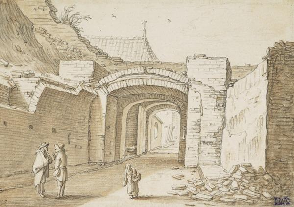 Gateway and Ruined Town Wall