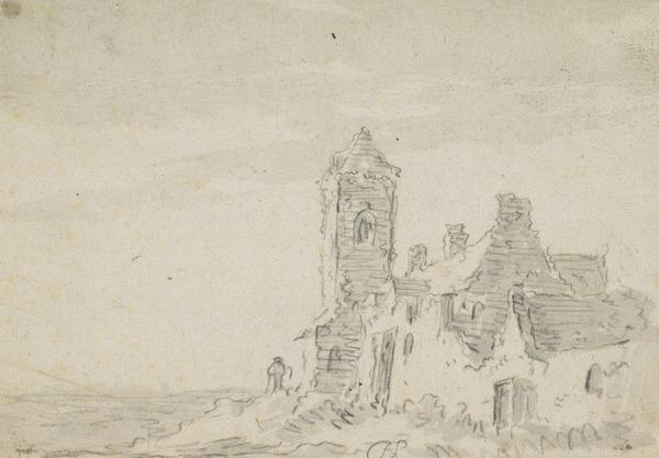 Ruined Tower and Buildings by the Sea Shore (Estimated earliest year: 1624)