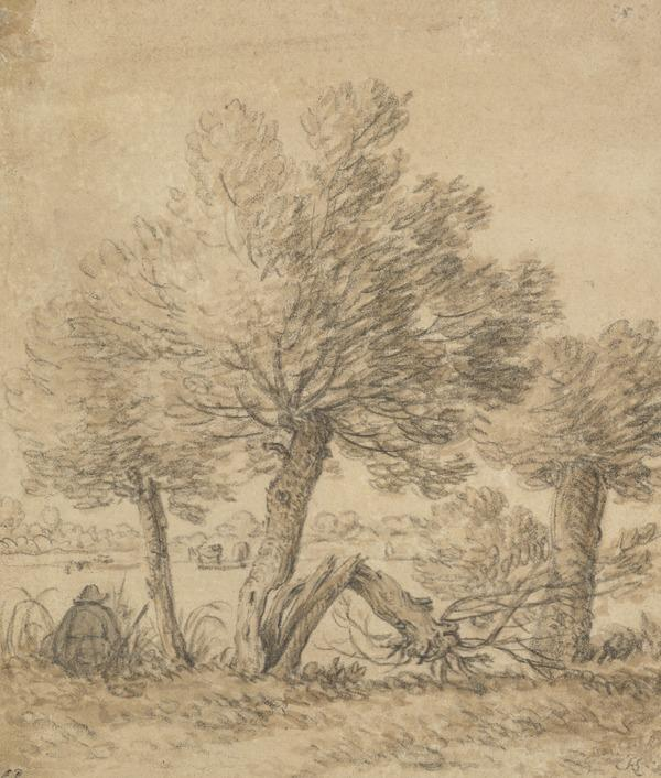 A Figure Seated by a Group of Trees (Estimated earliest year: 1624)